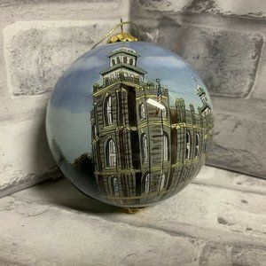 Logan Utah Temple Glass Ball Ornament LDS Mormon
